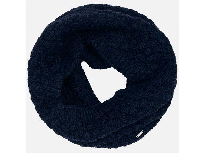 Nákrčník pletený vzor tmavě modrý MINI Mayoral