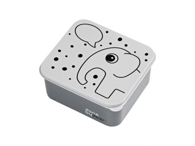 Svačinový/obědový box šedý DONE BY DEER