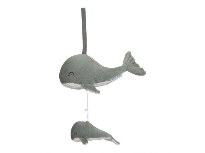 Hrající velryba Ocean Mint Little Dutch