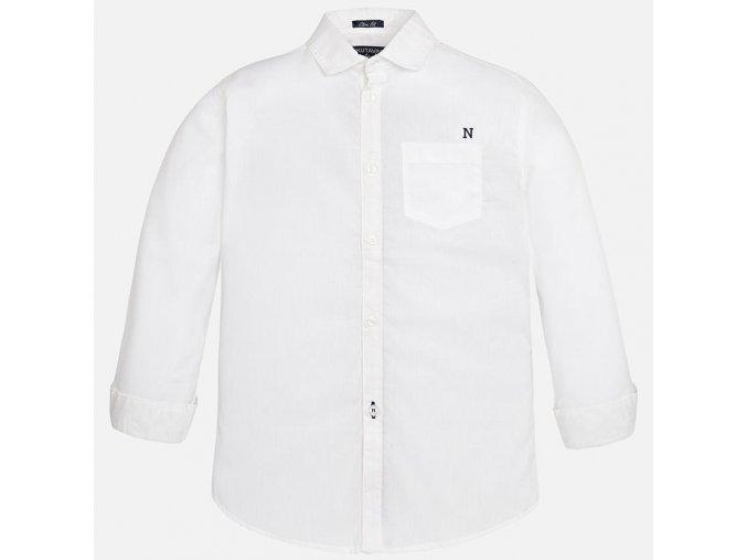 Košile dlouhý rukáv bílá N JUNIOR Mayoral