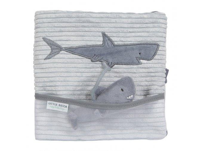 little dutch plysova knizka velka zralok ocean blue ld4849 1