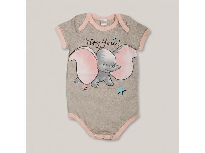 Body s krátkým rukávem Dumbo meruňkové EXTREME INTIMO