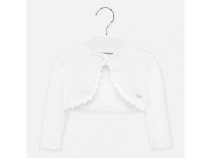 Bolerko pletené basic bílé BABY Mayoral
