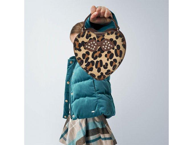 Kabelka srdíčko gepardí motiv MINI Mayoral