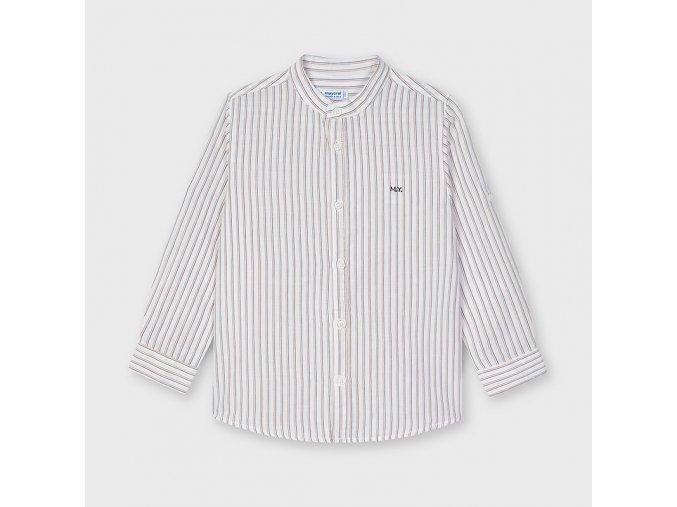 camisa lino con rayas cuello mao nino id 21 03124 092 800 4