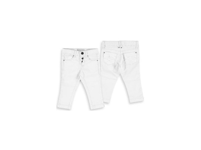 Kalhoty 7/8 plátěné bílé MINI Mayoral