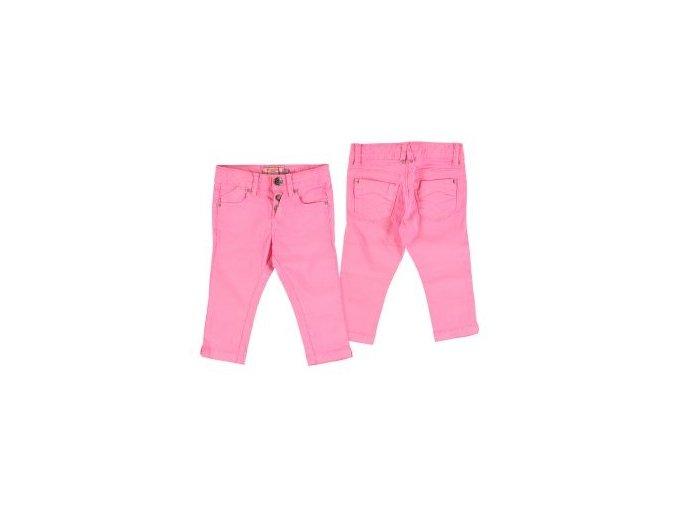 Kalhoty 7/8 plátěné neonově růžové MINI Mayoral