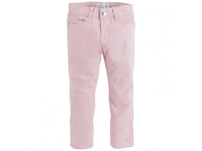 Kalhoty riflové třpytivé růžové MINI Mayoral