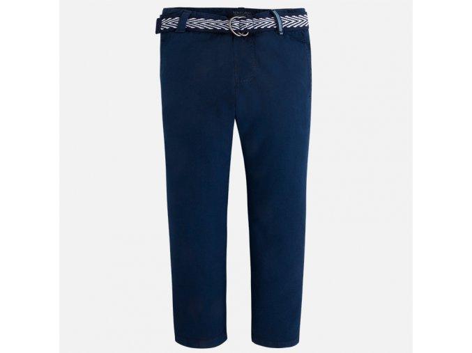 Kalhoty plátěné s páskem tmavě modrá MINI Mayoral