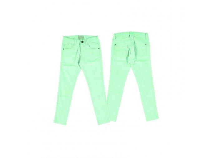 Kalhoty 7/8 plátěné neonově zelené JUNIOR Mayoral