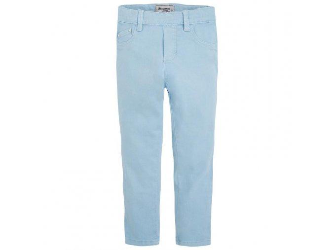 Kalhoty elastické světle modré MINI Mayoral