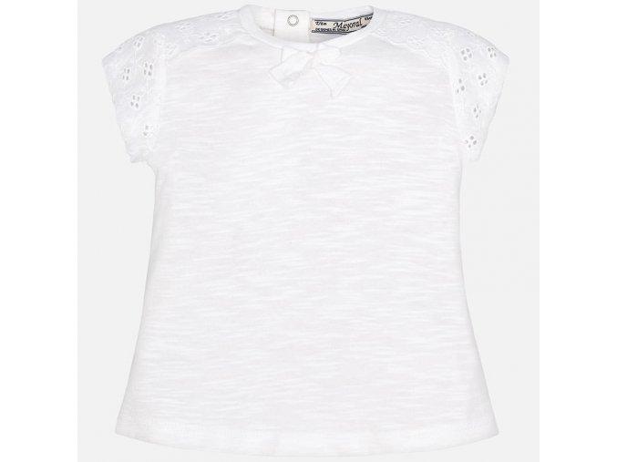 Tričko s krátkým rukávem basic bílé BABY Mayoral