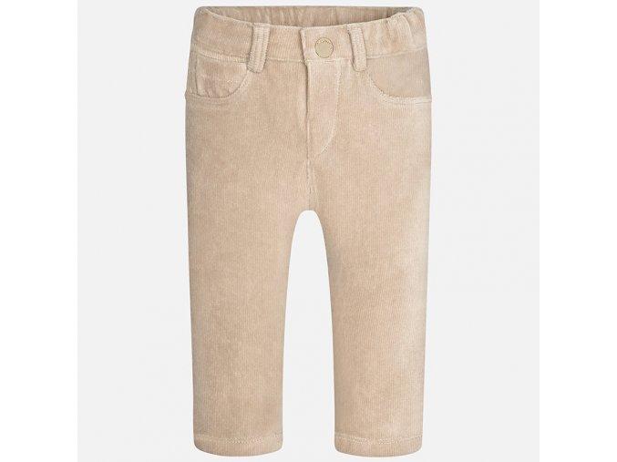 Velurové kalhoty elastické béžové BABY Mayoral