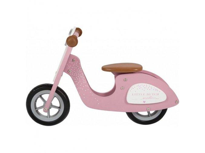 loopfiets scooter roze little dutch 600x600