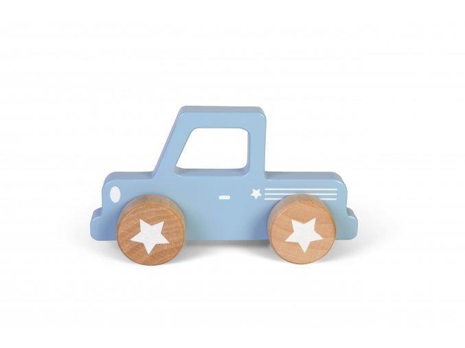 little dutch houten pick up auto licht blauw kraamcadeau jongen