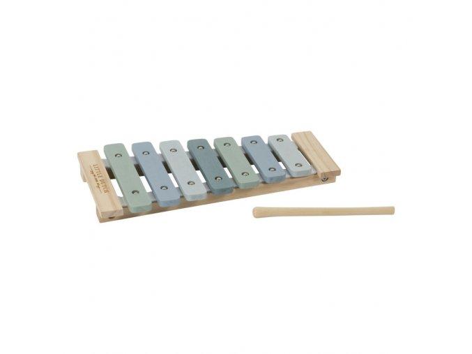 Dřevěný xylofon modrý LITTLE DUTCH