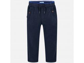 Kalhoty s gumou v pase tmavě modré MINI Mayoral
