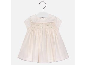 Šaty s růžičkami tylové smetanové BABY Mayoral
