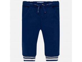 Kalhoty plátěné s manžetami tmavě modré BABY Mayoral