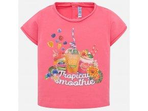 Tričko s krátkým rukávem Smoothie růžové BABY Mayoral