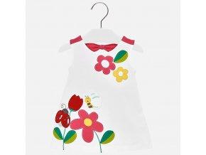 Šaty bavlněné beruška bílo-růžové BABY Mayoral