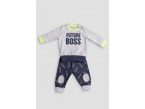 Pyžamo FUTURE BOSS BABY šedé Extreme Intimo