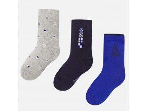 3 pack ponožek plachetnice modro-šedé MINI Mayoral