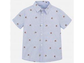 Košile s krátkým rukávem vespa světle modrá MINI Mayoral