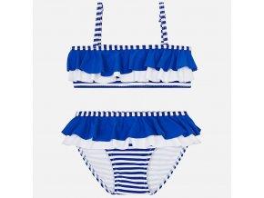 Plavky dvojdílné s volánkem proužky modré MINI Mayoral