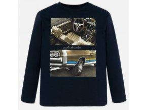 Triko s dlouhým rukávem auto tmavě modré JUNIOR Mayoral