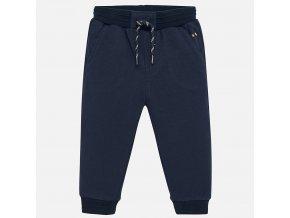 Kalhoty natahovací teplákové tmavě modré BABY Mayoral