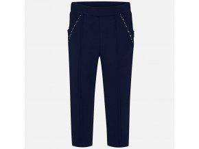 Kalhoty s kapsami a volánkem tmavě modré MINI Mayoral