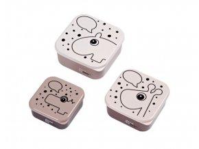 Svačinový box Contour 3ks růžový DONE BY DEER