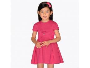 Šaty elastické s krátkým rukávem růžové MINI Mayoral