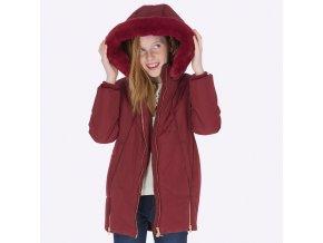 Zimní bunda prošívaná se zipy vínová JUNIOR Mayoral