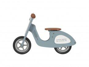 113091 102500 little dutch odrazedlo scooter drevo blue