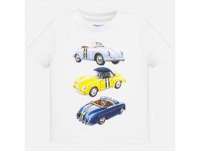 Tričko s krátkým rukávem auta bílé BABY Mayoral