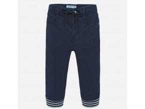 Kalhoty s manžetami tmavě modré BABY Mayoral
