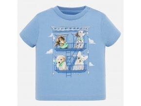 Tričko s krátkým rukávem pejsci světle modré BABY Mayoral