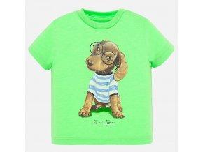 Tričko s krátkým rukávem pejsek zelené BABY Mayoral