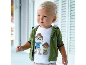 Tričko s krátkým rukávem průzkumníci bílé BABY Mayoral