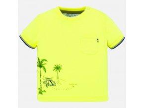 Tričko s krátkým rukávem SAFARI neon žluté  BABY Mayoral