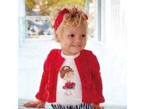 Tričko s krátkým rukávem panenka modro-červené BABY Mayoral