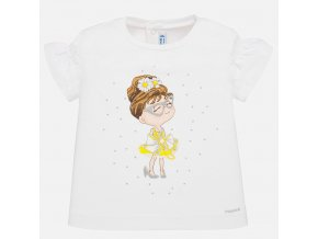 Tričko s krátkým rukávem panenka žlutá BABY Mayoral