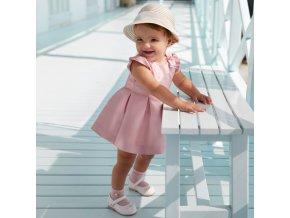 Šaty s mašlí světle růžové BABY Mayoral