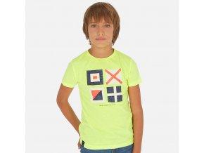 Tričko s krátkým rukávem vlajky neonově žluté JUNIOR Mayoral