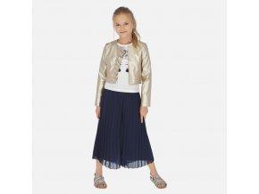 Kalhotová sukně s plisé tmavě modrá JUNIOR Mayoral