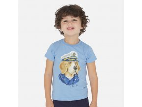 Tričko s krátkým rukávem pes kapitán světle modré MINI Mayoral