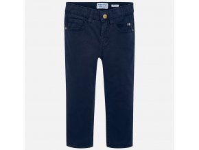 Kalhoty plátěné tmavě modré MINI Mayoral