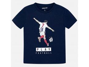 Tričko s krátkým rukávem modré fotbalista MINI Mayoral